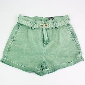 Urban Outfitters BDG green jean shorts high rise